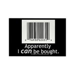 I can be bought UPC Rectangle Magnet (100 pack)