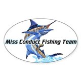 Custom Fishing T-Shirts Oval Decal