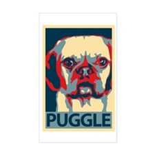 Vote Puggle! - Rectangle Decal