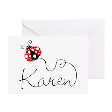 Ladybug Karen Greeting Cards (Pk of 10)