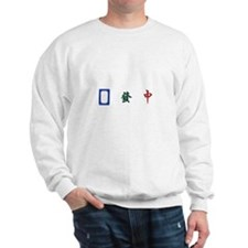 Cute Mahjong tiles Sweatshirt