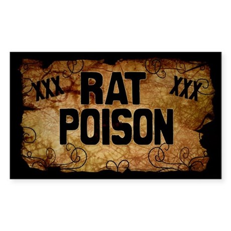 Rat Poison Bottle Label Sticker