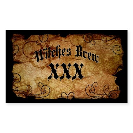 Witches Brew Bottle Label Sticker