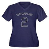 #2 - The Captain Women's Plus Size V-Neck Dark T-S