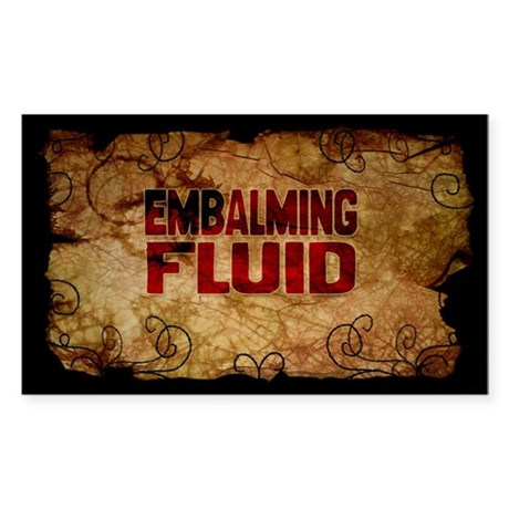 Embalming Fuid Wine Label Sticker 10 Pack