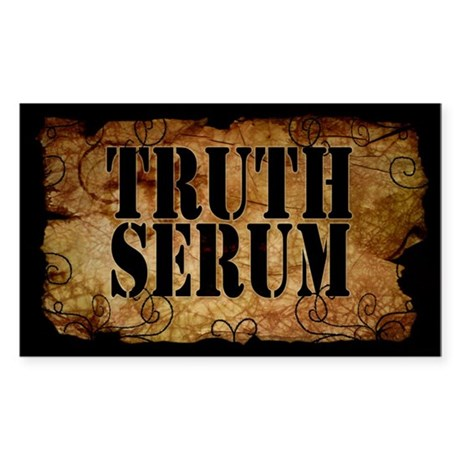 Truth Serum Bottle Label Sticker 10 Pack