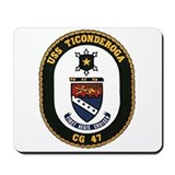 USS Ticonderoga CG 47 USS Navy Ship Mousepad