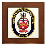 USS Winston S. Churchill DDG 81 US Navy Ship Frame