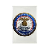 USS John C. Stennis CVN 74 USS Navy Ship Rectangle