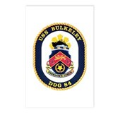 USS Bulkeley DDG 84 US Navy Ship Postcards (Packag