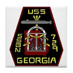 USS Georgia SSBN 729 US Navy Ship Tile Coaster