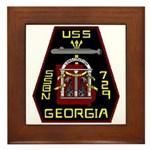 USS Georgia SSBN 729 US Navy Ship Framed Tile