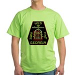 USS Georgia SSBN 729 US Navy Ship Green T-Shirt