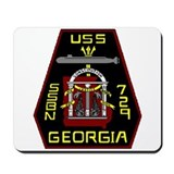 USS Georgia SSBN 729 US Navy Ship Mousepad