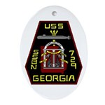 USS Georgia SSBN 729 US Navy Ship Oval Ornament
