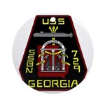USS Georgia SSBN 729 US Navy Ship Ornament (Round)