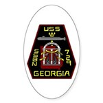 USS Georgia SSBN 729 US Navy Ship Sticker (Oval 10