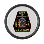 USS Georgia SSBN 729 US Navy Ship Large Wall Clock