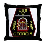 USS Georgia SSBN 729 US Navy Ship Throw Pillow
