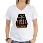 USS Georgia SSBN 729 US Navy Ship Women's V-Neck T