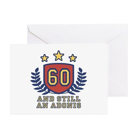 60th Birthday Greeting Cards (Pk of 10)