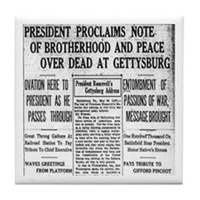Lincoln's Gettysburg Address News Coverage Tile Co