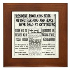Lincoln's Gettysburg Address News Coverage Framed