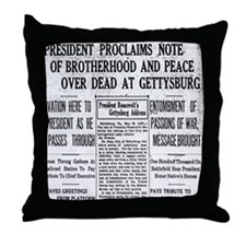 Lincoln's Gettysburg Address News Coverage Throw P