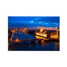 Cityscape of London at Night Rectangle Magnet