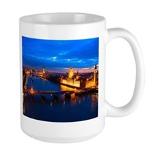 Cityscape of London at Night Mug