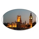 Houses of Parliament Illumina Oval Sticker (10 pk)