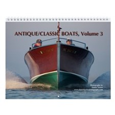 Antique/Classic Boats, Vol 3, Wall Calendar