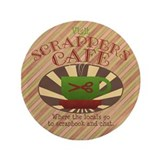 "Scrappers Cafe 3.5"" Button (100 pack)"