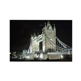 Tower Bridge at Night Rectangle Magnet (10 pack)