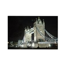 Tower Bridge at Night Rectangle Magnet