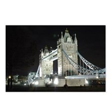 Tower Bridge at Night Postcards (Package of 8)