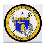 USS Michigan SSBN 727 USS Navy Ship Tile Coaster