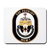 USS Patriot MCM 7 US Navy Ship Mousepad