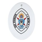 USS Pioneer MCM 9 US Navy Ship Oval Ornament