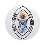 USS Pioneer MCM 9 US Navy Ship Ornament (Round)