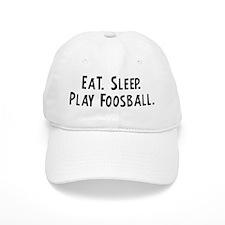 Eat, Sleep, Play Foosball Baseball Cap