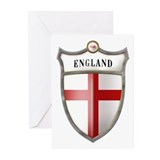 St George Cross Shield of Eng Greeting Cards (Pk o