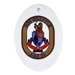 USS Grapple ARS 53 US Navy Ship Oval Ornament