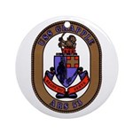 USS Grapple ARS 53 US Navy Ship Ornament (Round)