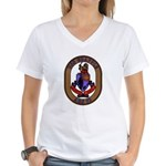 USS Grapple ARS 53 US Navy Ship Women's V-Neck T-S