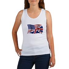 UK US Flag Women's Tank Top
