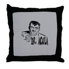 Dr Acula Throw Pillow