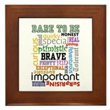 Dare To Be - Framed Tile