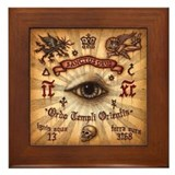 Order of the Knights Templar Framed Tile
