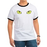 Halloween Cat's Eye Ringer T